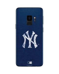 New York Yankees - Solid Distressed Galaxy S9 Skin