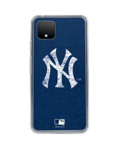 New York Yankees - Solid Distressed Google Pixel 4 Clear Case