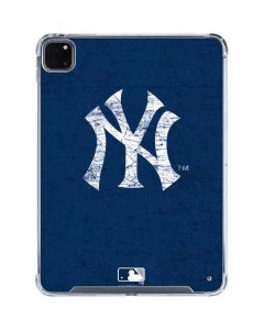 New York Yankees - Solid Distressed iPad Pro 11in (2020) Clear Case