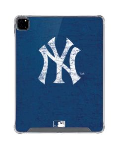 New York Yankees - Solid Distressed iPad Pro 12.9in (2020) Clear Case
