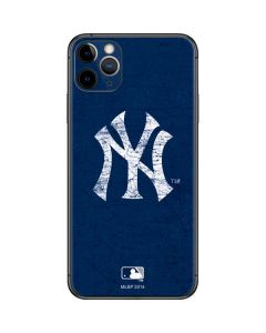 New York Yankees - Solid Distressed iPhone 11 Pro Max Skin