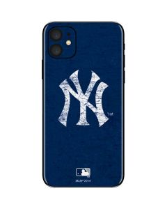 New York Yankees - Solid Distressed iPhone 11 Skin