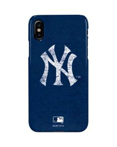 New York Yankees - Solid Distressed iPhone XS Max Lite Case