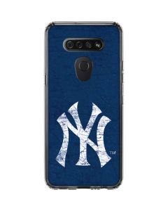 New York Yankees - Solid Distressed LG K51/Q51 Clear Case