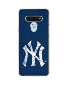 New York Yankees - Solid Distressed LG Stylo 6 Clear Case