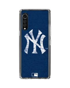 New York Yankees - Solid Distressed LG Velvet Clear Case