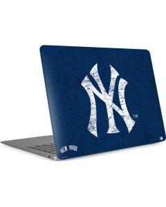 New York Yankees - Solid Distressed Apple MacBook Air Skin