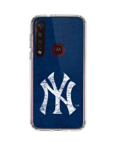 New York Yankees - Solid Distressed Moto G8 Plus Clear Case