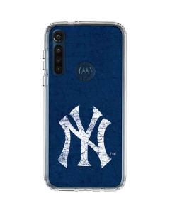 New York Yankees - Solid Distressed Moto G8 Power Clear Case