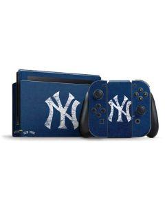 New York Yankees - Solid Distressed Nintendo Switch Bundle Skin