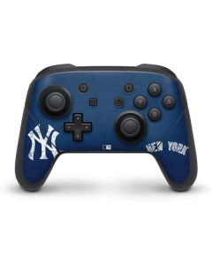 New York Yankees - Solid Distressed Nintendo Switch Pro Controller Skin