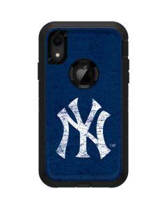 New York Yankees - Solid Distressed Otterbox Defender iPhone Skin
