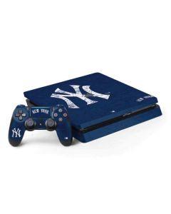 New York Yankees - Solid Distressed PS4 Slim Bundle Skin