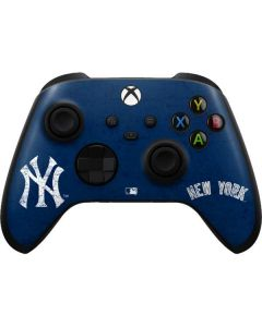 New York Yankees - Solid Distressed Xbox Series X Controller Skin
