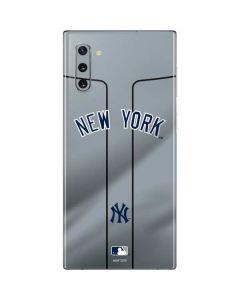 New York Yankees Alternate/Away Jersey Galaxy Note 10 Skin