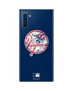 New York Yankees- Alternate Solid Distressed Galaxy Note 10 Skin
