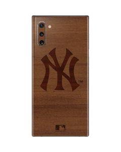 New York Yankees Engraved Galaxy Note 10 Skin