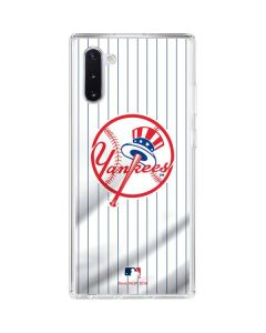 New York Yankees Home Jersey Galaxy Note 10 Clear Case