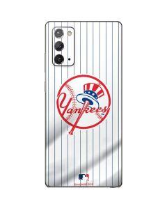New York Yankees Home Jersey Galaxy Note20 5G Skin