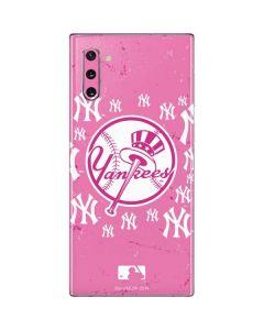 New York Yankees Pink Blast Galaxy Note 10 Skin