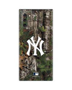 New York Yankees Realtree Xtra Green Camo Galaxy Note 10 Skin