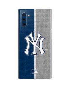 New York Yankees Split Galaxy Note 10 Skin