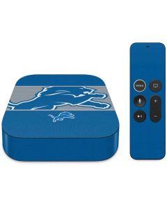 Detroit Lions Zone Block Apple TV Skin