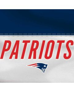 New England Patriots White Striped HP Pavilion Skin