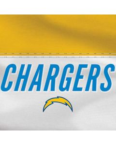Los Angeles Chargers White Striped Apple TV Skin