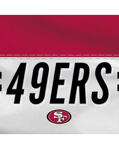 San Francisco 49ers White Striped HP Pavilion Skin