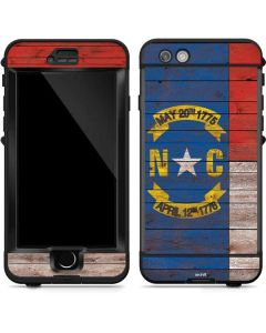 North Carolina Flag Dark Wood LifeProof Nuud iPhone Skin