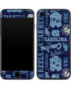 North Carolina Tar Heels Print iPhone SE Skin