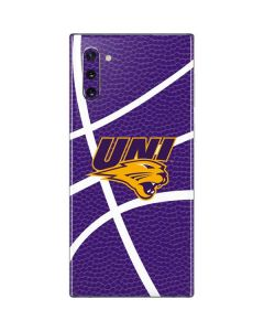 Northern Iowa Panthers Leather Galaxy Note 10 Skin