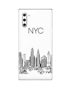 NYC Sketchy Cityscape Galaxy Note 10 Skin