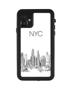 NYC Sketchy Cityscape iPhone 11 Waterproof Case