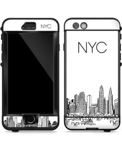 NYC Sketchy Cityscape LifeProof Nuud iPhone Skin
