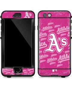 Oakland Athletics - Pink Cap Logo Blast LifeProof Nuud iPhone Skin