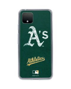 Oakland Athletics - Solid Distressed Google Pixel 4 XL Clear Case