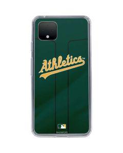 Oakland Athletics Alternate Jersey Google Pixel 4 XL Clear Case
