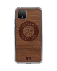 Oakland Athletics Engraved Google Pixel 4 XL Clear Case