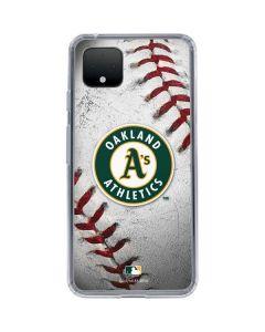 Oakland Athletics Game Ball Google Pixel 4 XL Clear Case