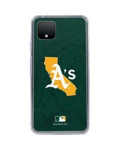 Oakland Athletics Home Turf Google Pixel 4 XL Clear Case