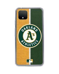 Oakland Athletics Split Google Pixel 4 XL Clear Case