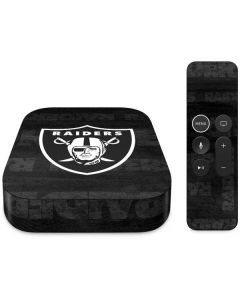 Las Vegas Raiders Black & White Apple TV Skin