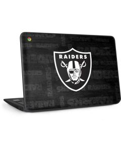 Las Vegas Raiders Black & White HP Chromebook Skin