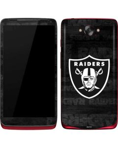 Las Vegas Raiders Black & White Motorola Droid Skin