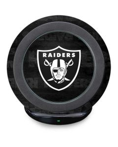 Las Vegas Raiders Black & White Fast Charge Wireless Charging Stand Skin
