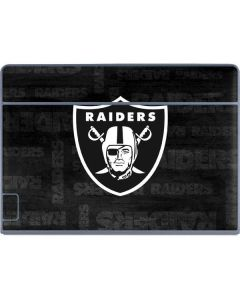Las Vegas Raiders Black & White Galaxy Book Keyboard Folio 12in Skin