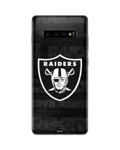 Las Vegas Raiders Black & White Galaxy S10 Plus Skin