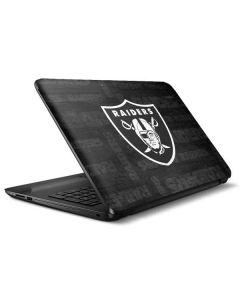 Las Vegas Raiders Black & White HP Notebook Skin